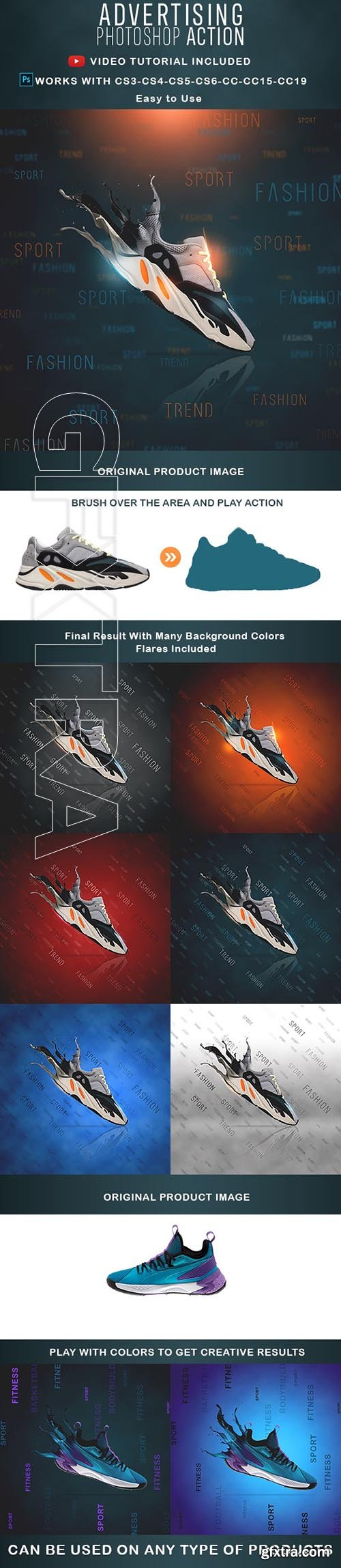 GraphicRiver - Advertising Dispersion Photoshop Actions 24302120