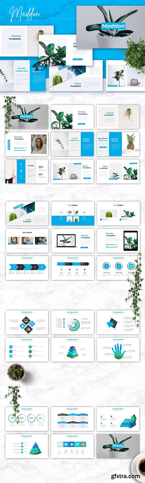 MADDON - Company Profile Powerpoint, Keynote and Google Slides Templates