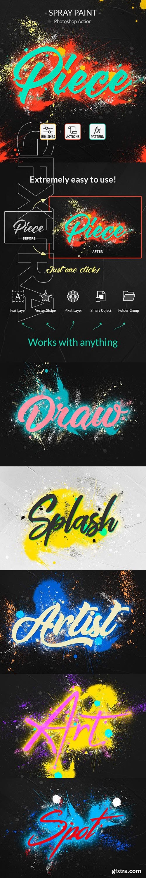 GraphicRiver - Spray Paint Photoshop Action 24380797