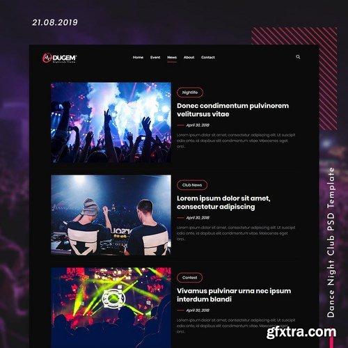 Dugem Dance Night Club PSD Template
