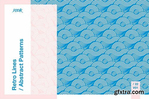 Retro Lines  Abstract Patterns V. 01