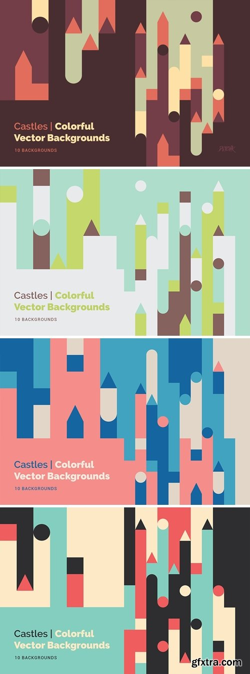 Castles | Abstract Geometric Vector Backgrounds