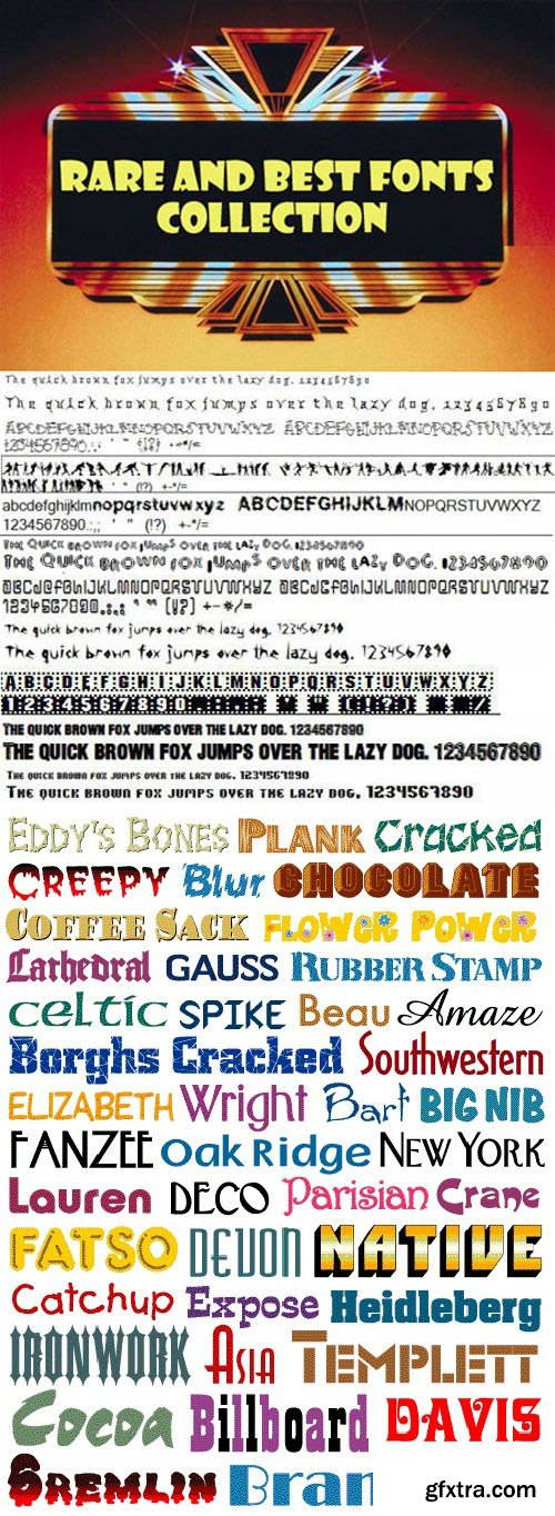Mega Fonts Collection - 9479 Awesome Fonts