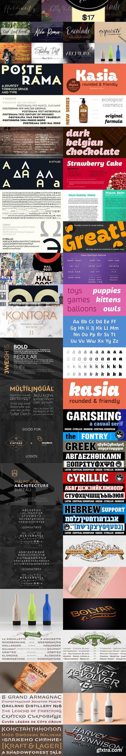 MEGAFONT - 500+ Fonts Big Bundle