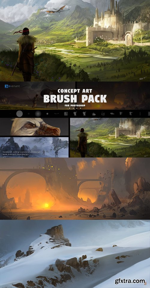 Concept Art - Brush Back for Photoshop