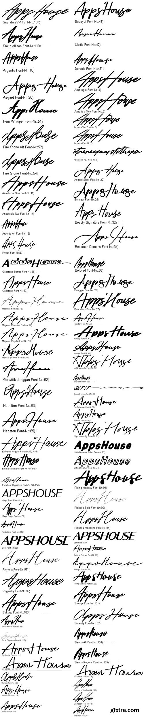 171 Signature Fonts Collection