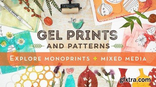Gel Prints and Patterns: Explore monoprints + mixed media