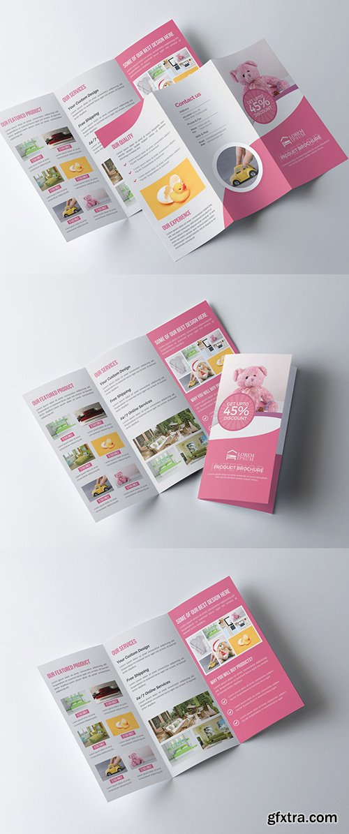 Product Trifold Brochure Layout 277926791
