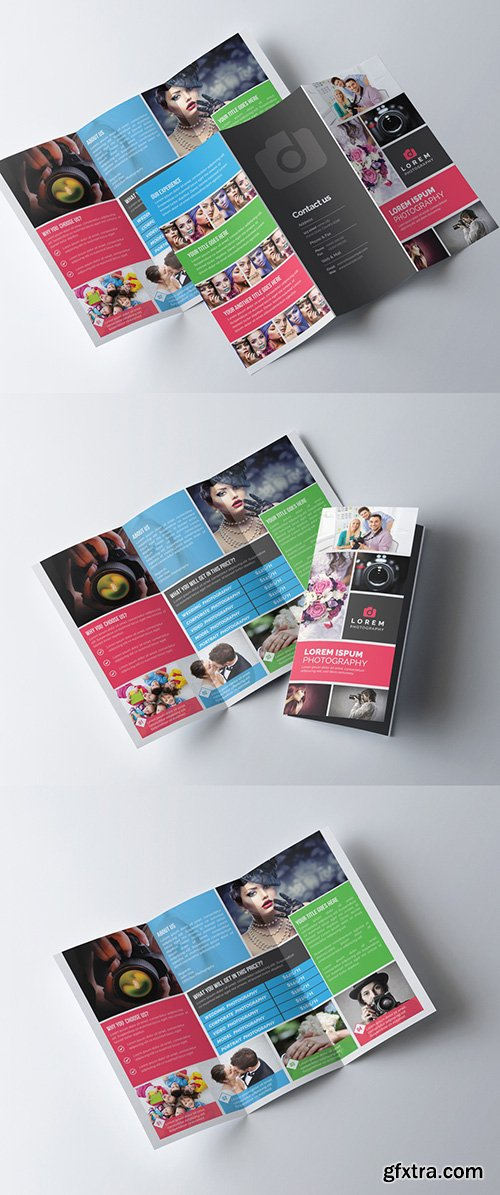 Photography Trifold Brochure Template 277926716