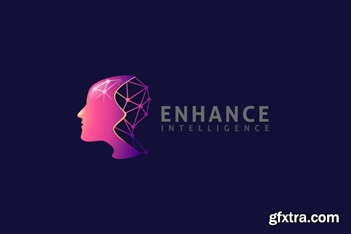 Modern Human Brain and Intelligence Logo
