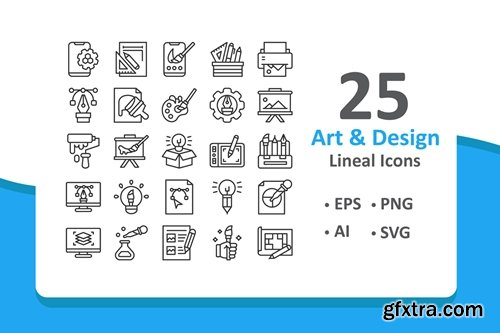 Art and Design Icons - Lineal