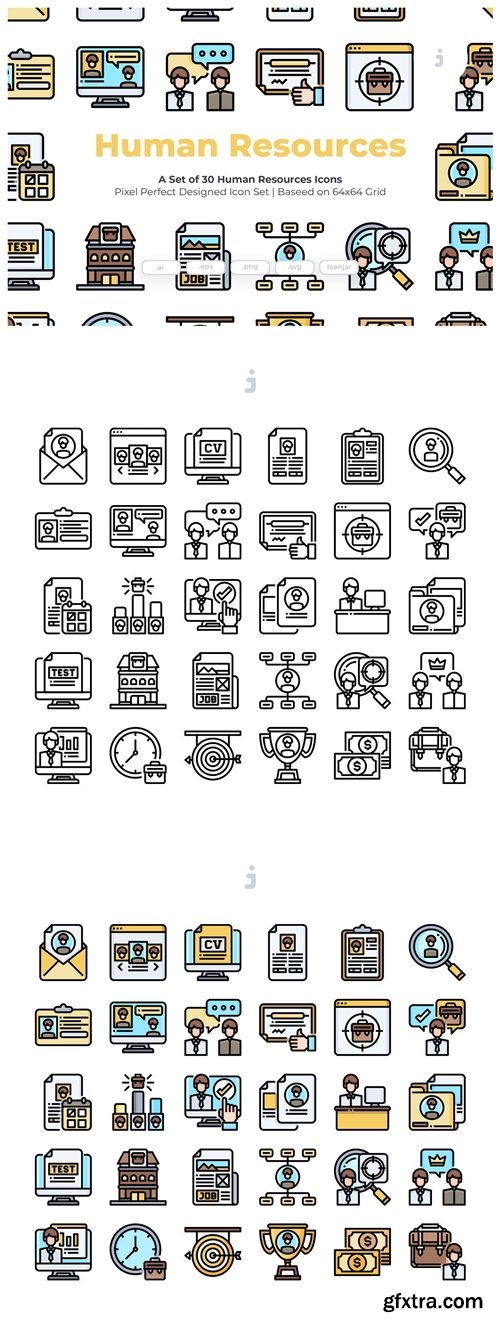30 Human Resources Icons