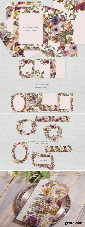 Autumn Flowers Clipart Set 1715273
