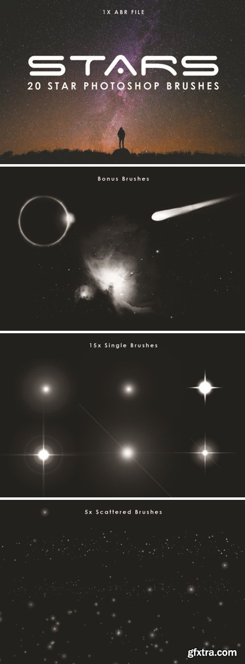 20 Star Photoshop Brushes 1715136