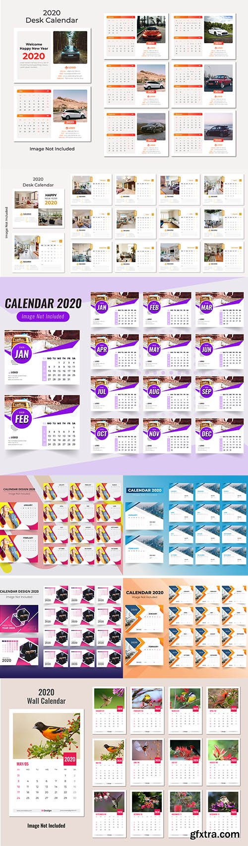 Desk and Wall Calendar 2020 Pack vol.1