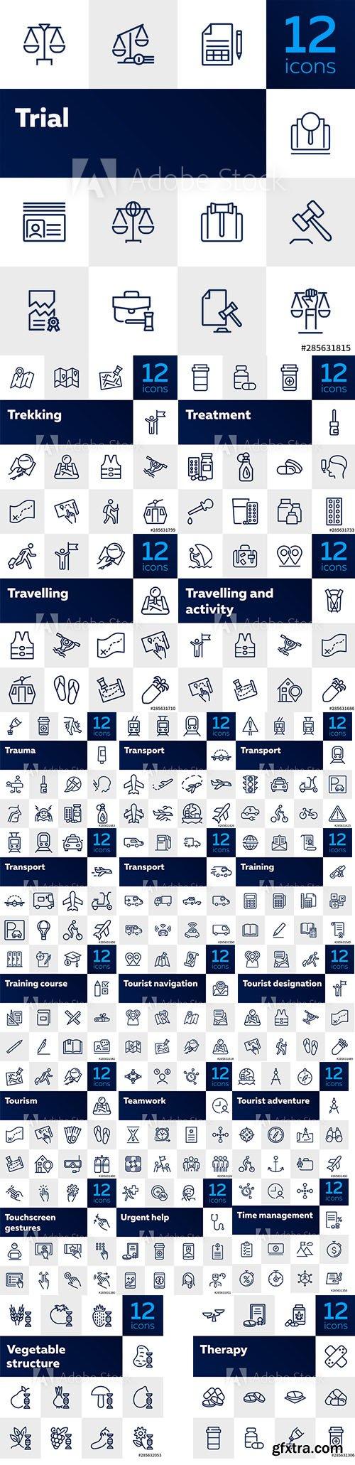 264 Line Icons Set vol2