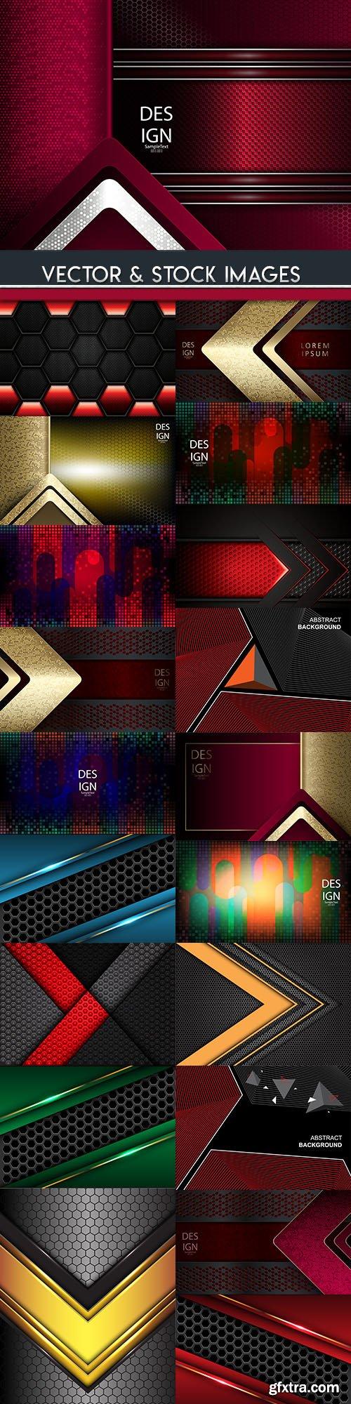 Elegant metallic and geometrical black background