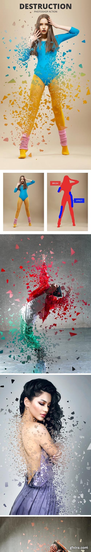 GraphicRiver - Destruction Photoshop Action 24273684