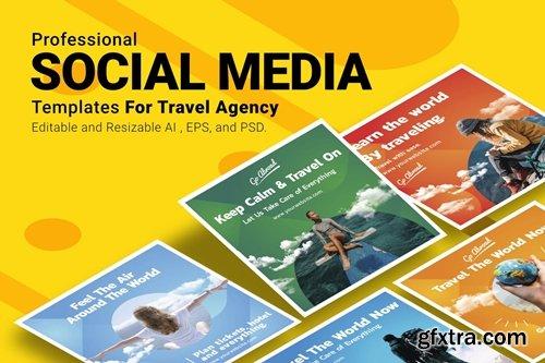 Travel Agency - Social Media Post Templates