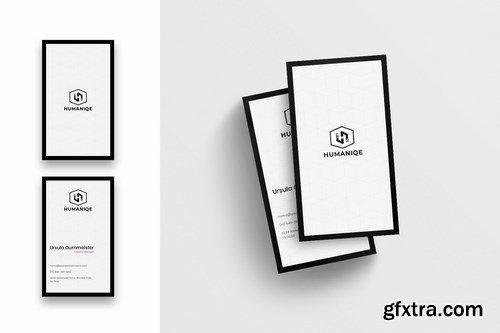 Minimal Business Card Template-Vertical