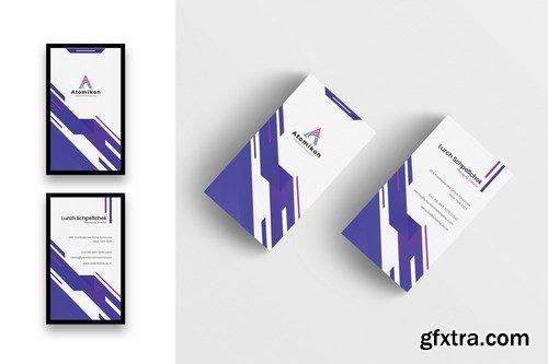 Creative Business Card Template-Vertical