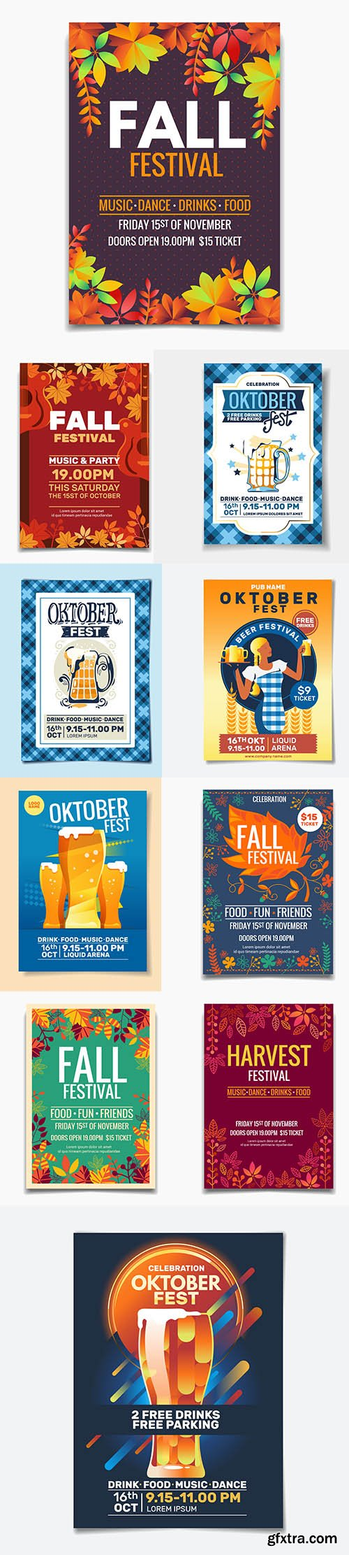 Oktoberfest Party Flyer Template Set