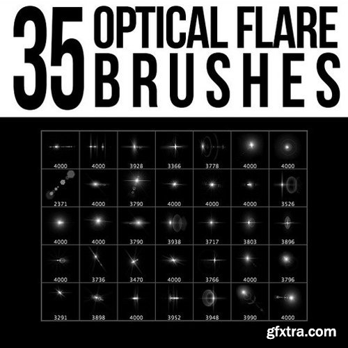 Graphicriver - 5553256 35 Optical Flare Brushes
