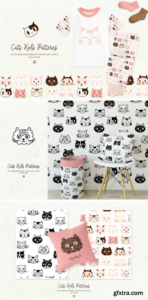 Cats Kids Patterns 1730173