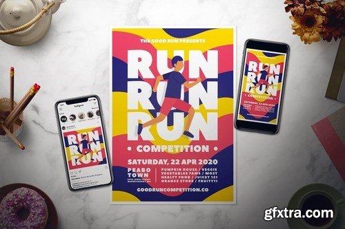 Run Flyer Set