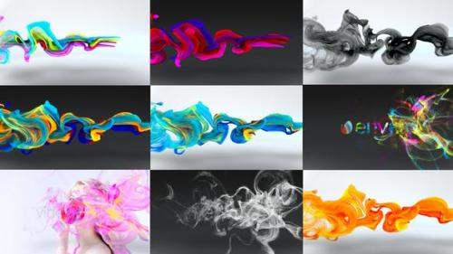 Udemy - Colorful Particles Flowing Logo