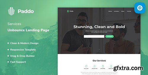 ThemeForest - Paddo v1.0 - Services Unbounce Landing Page Template - 23627567