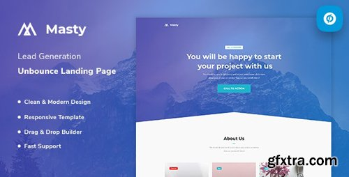 ThemeForest - Masty v1.0 - Lead Generation Unbounce Landing Page Template - 23555159