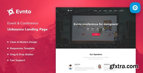 ThemeForest - Evnto v1.0 - Event & Conference Unbounce Landing Page Template - 23563066