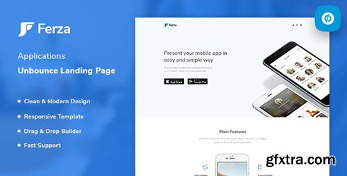 ThemeForest - Ferza v1.0 - Applications Unbounce Landing Page Template - 23481431