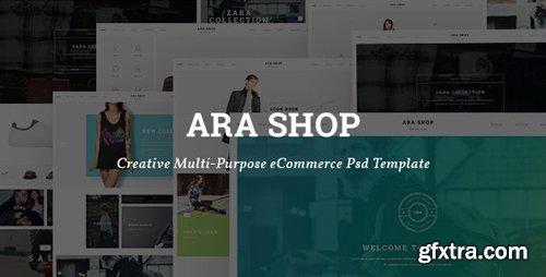ThemeForest - Ara v1.0 - Fashion Store Multipurpose PSD Template - 24083636