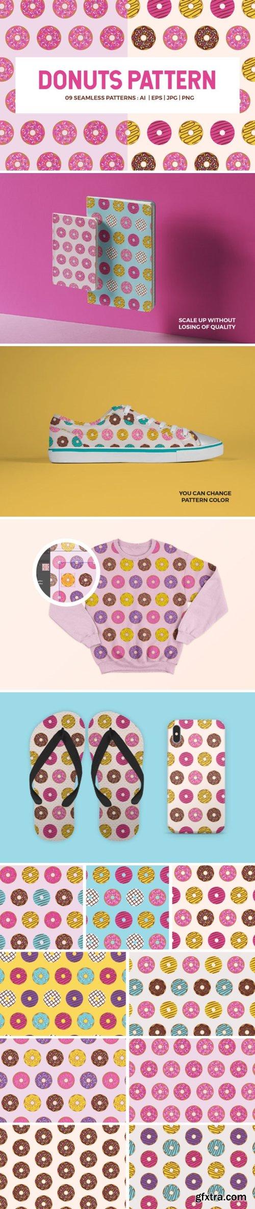 Donuts Seamless Patterns 1738504