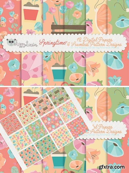 Springtime 01 Seamless Pattern Designs 1587474