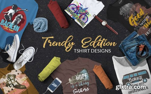 Inkydeals Trendy Edition T-Shirt Designs Bundle