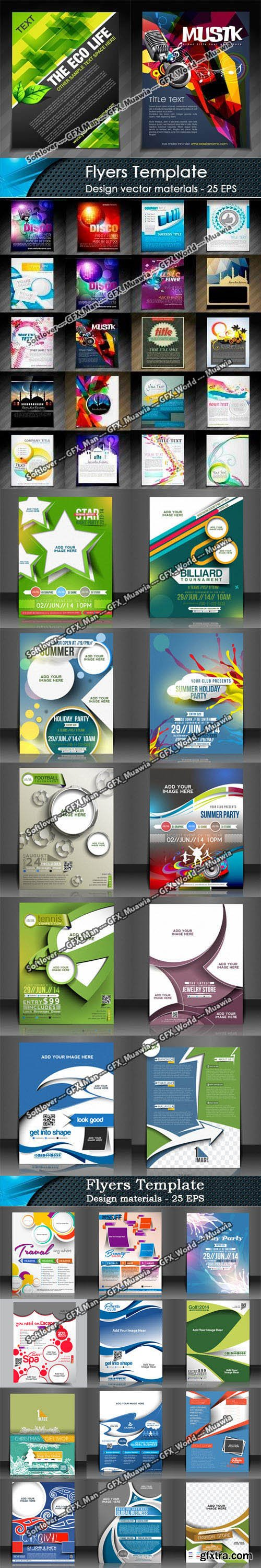 60 Flyer Templates Collection in Vector