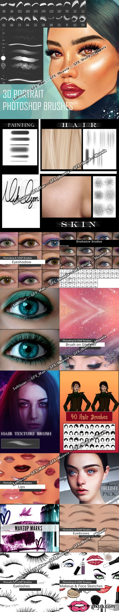 380 Awesome Beauty Photoshop Brush Collection