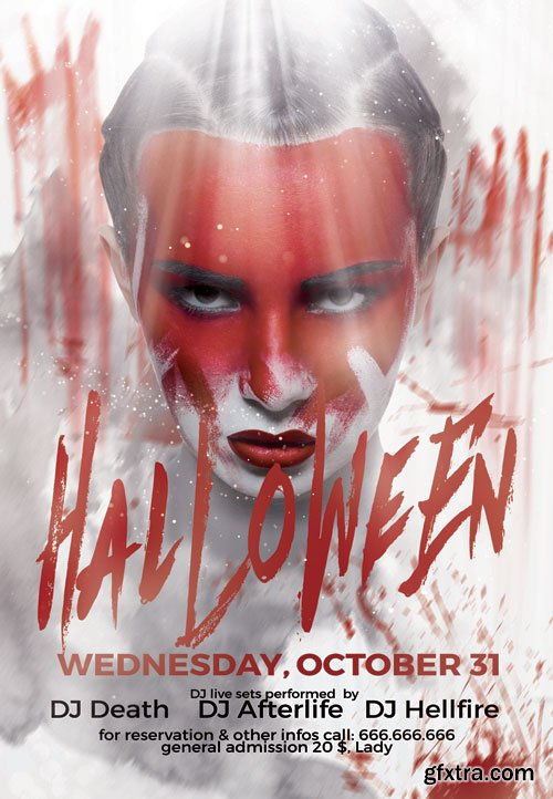 Halloween night(2) - Premium flyer psd template