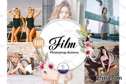 CreativeMarket - 100 Film Photoshop Actions Vol2 3937480