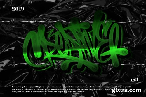 CreativeMarket - GRAFFITI BRUSH for procreate 3983122