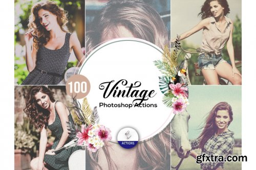 100 Vintage Photoshop Actions