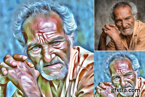 CreativeMarket - Portrait Speed Art Effect 3946675