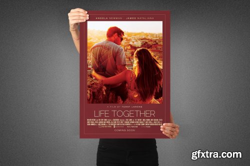 CreativeMarket - Life Together Movie Poster Template 3991111