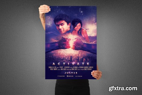 CreativeMarket - Activate Movie Poster Template 3990890