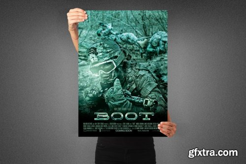 CreativeMarket - Boot Movie Poster Template 3991113