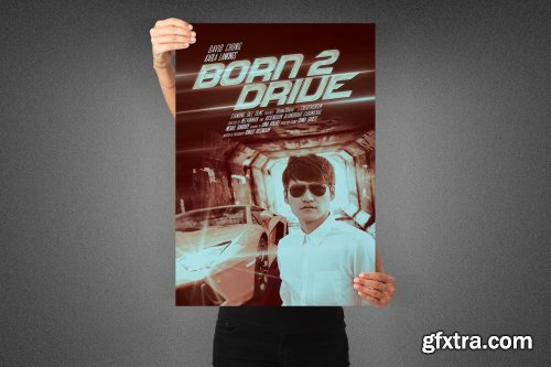 CreativeMarket - Born to Drive Movie Poster Template 3991739