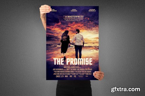 CreativeMarket - The Promise Movie Poster Template 3991837
